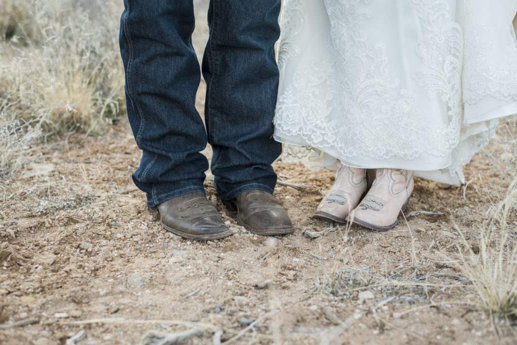 Wedding boots for ceremony