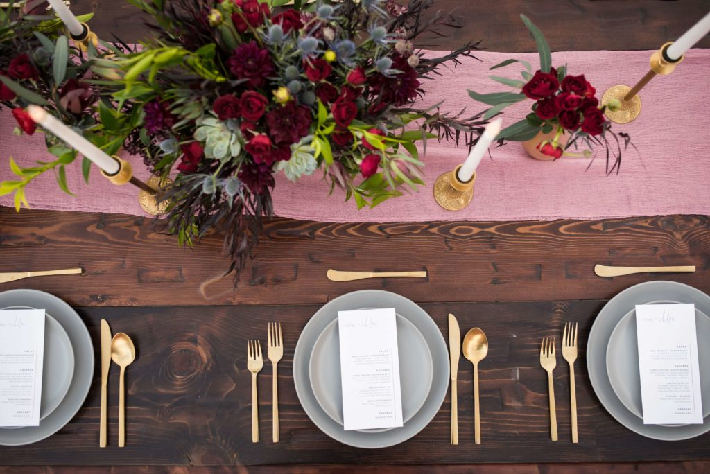 Brunch wedding table set.
