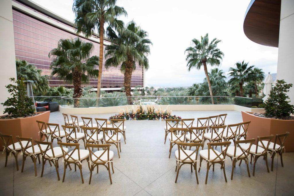 Indoor/Outdoor wedding venue in Las Vegas, Red Rock Resort.