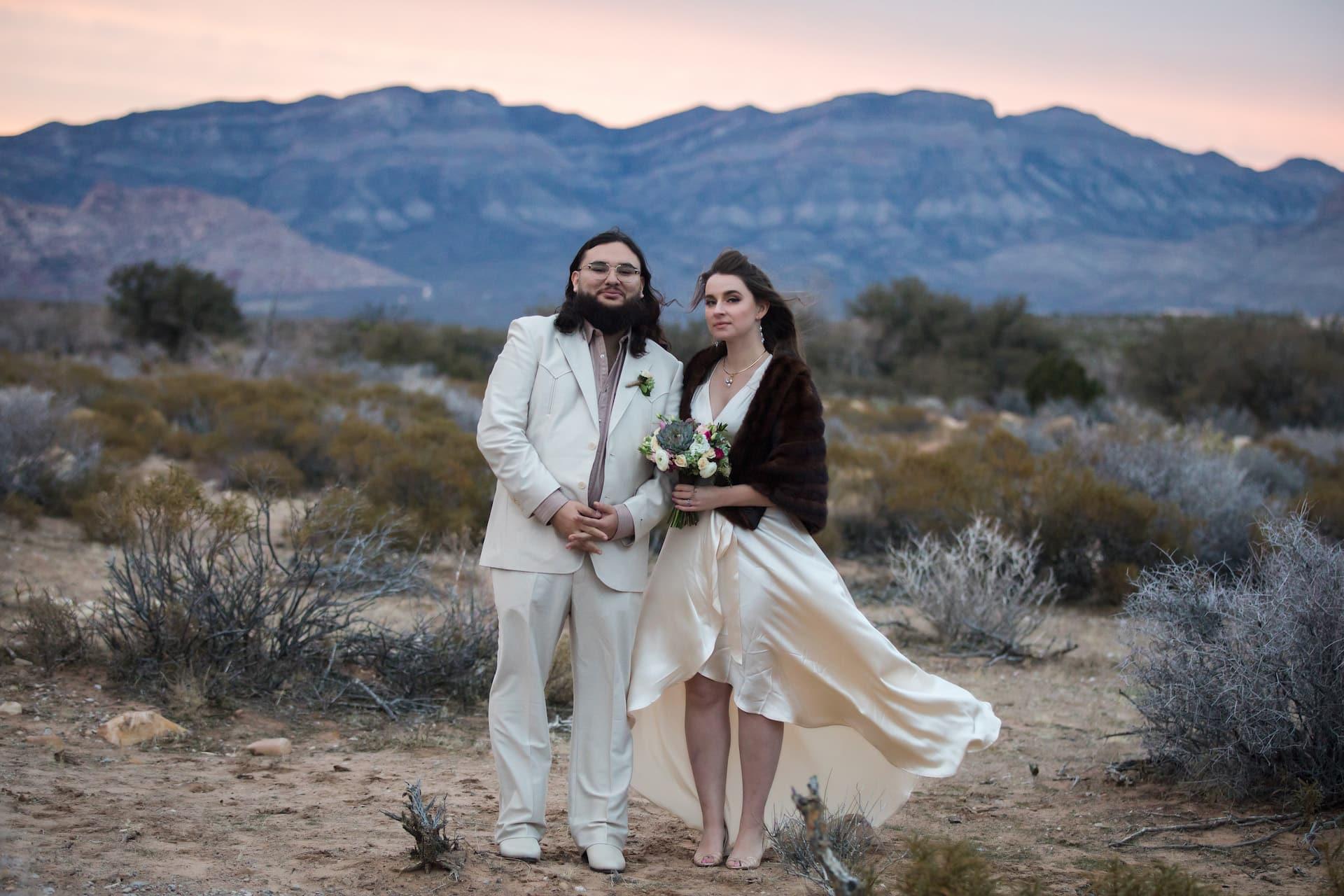 Jessica + Marcos eloping in Las Vegas.