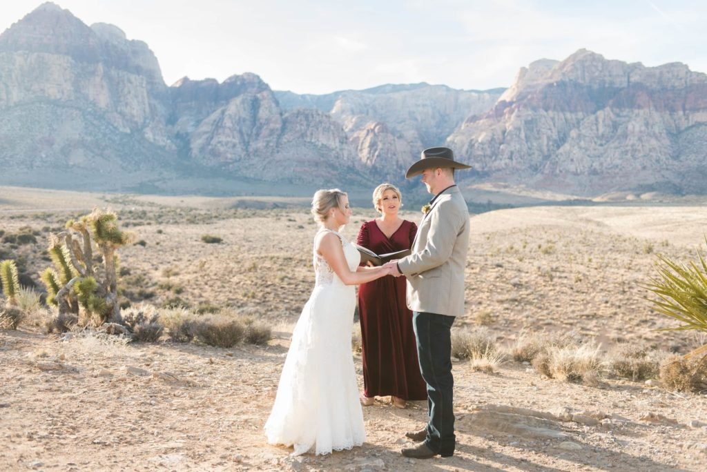 Wedding ceremony at the Red Rock Canyon Overlook.