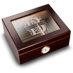 Monogrammed groomsmens cigar case