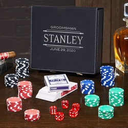 Groomsmen Gifts: Personalized Poker Set