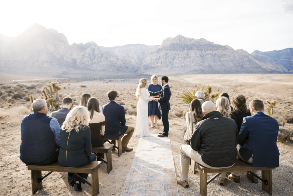 Micro wedding at Red Rock Canyon in Las Vegas.