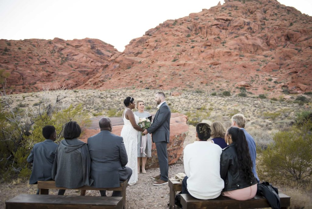 A small intimate elopement ceremony.