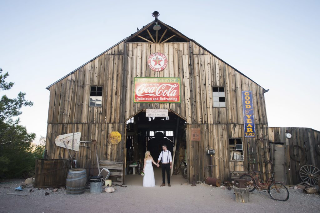 A barn makes a charming venue for a fall wedding.