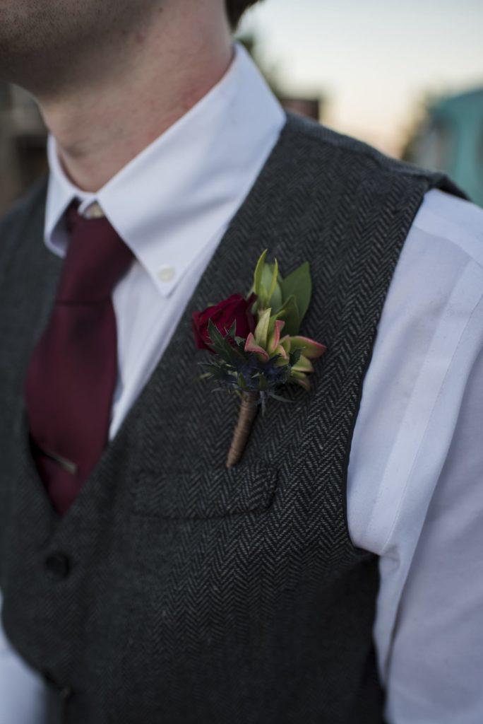 Fall Wedding Ideas: Seasonal Boutonnière