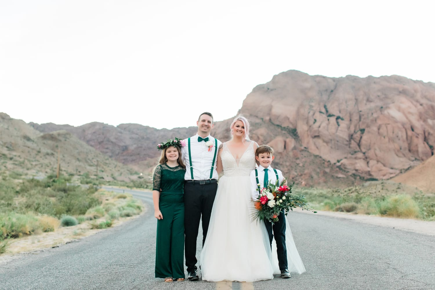 Hayley + Andrew and their family at Eldorado Canyon.