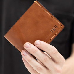 Groomsmen Gifts: Personalized Leather Wallet